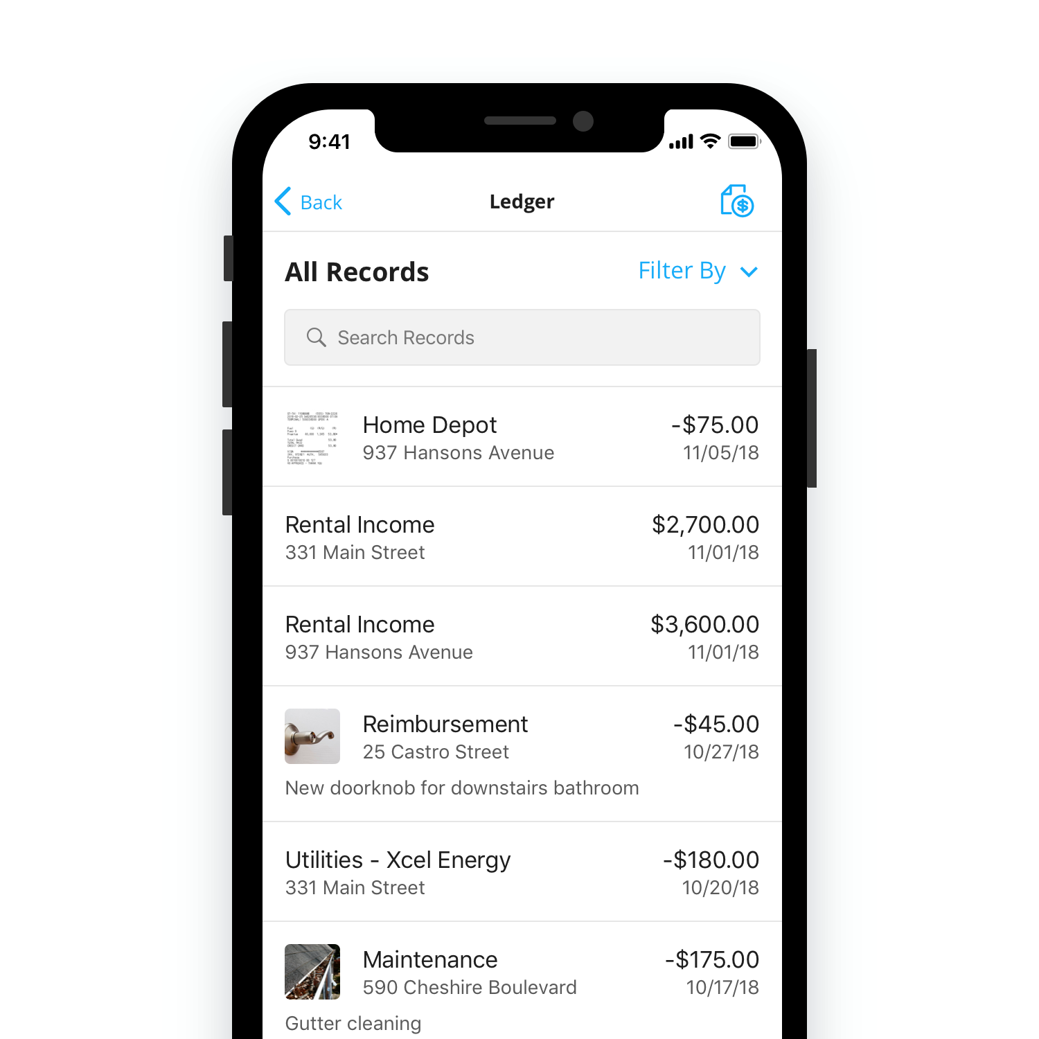 Tellus Features: Finances