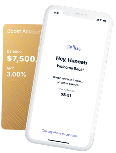 Earn 3% APY with the Tellus Boost Account